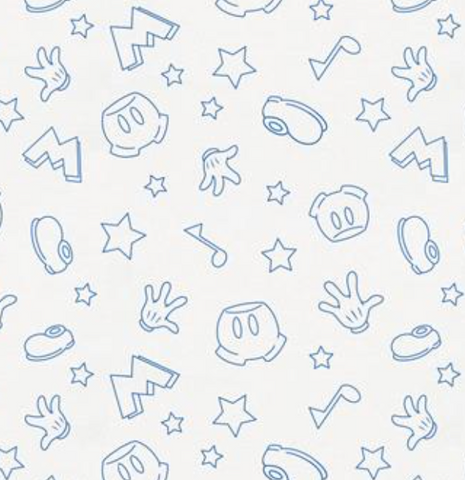 Mickey Icons Blue