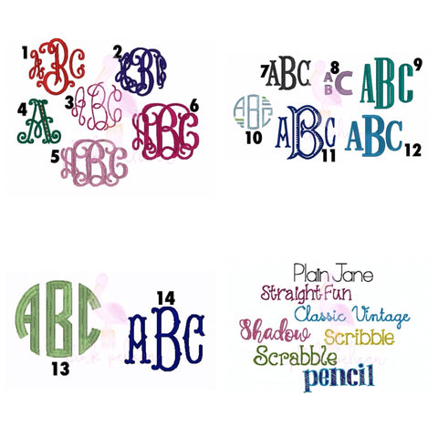 Add a three letter monogram