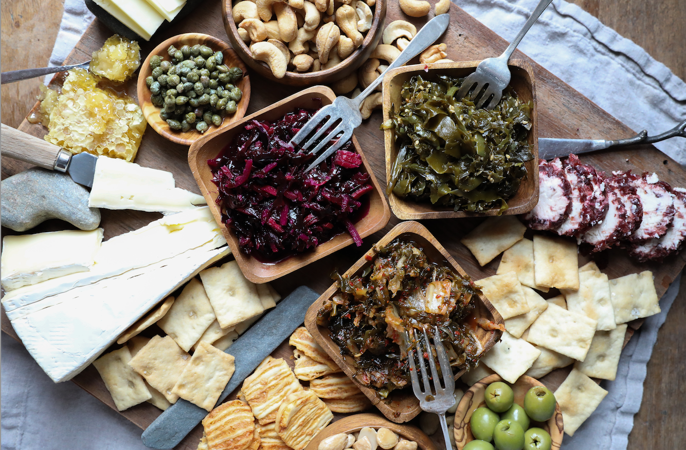 The Stay Home for the Holidays Cheese Board Recipe