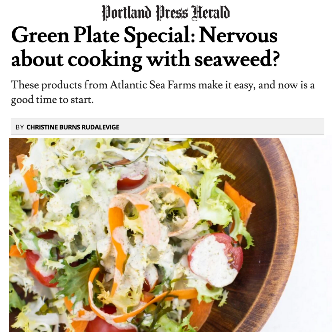 The Why's and How's of supporting your local kelp farmers from the Portland Press Herald