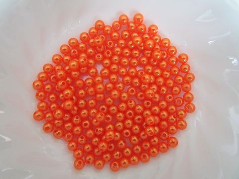 6 mm BEADS FOR RIG MAKING 200 FLUORESCENT RED AND FLUORESCENT YELLOW BEADS