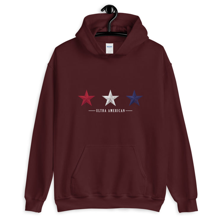 Red White and Blue Stars - Unisex Hoodie