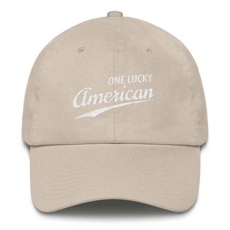 One Lucky American Cap - White Thread