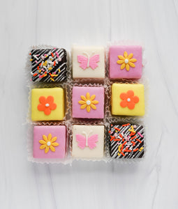 Butterflies and Flowers Tea Cakes