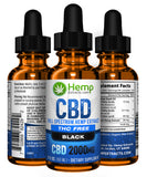 Black THC Free | 2000 Mg | Hemp Extracts | Nature Approved