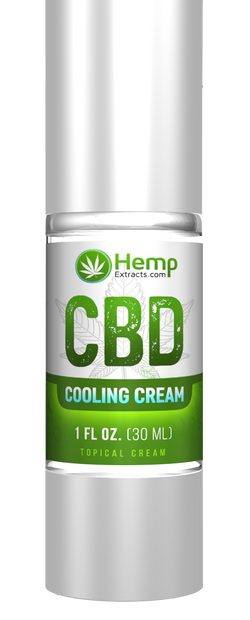 Cooling Cream Airless | 1 FL Oz. | Hemp Extracts | Nature Approved