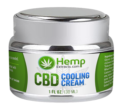 Cooling Cream | 1 FL Oz. Jar | Hemp Extracts | Nature Approved