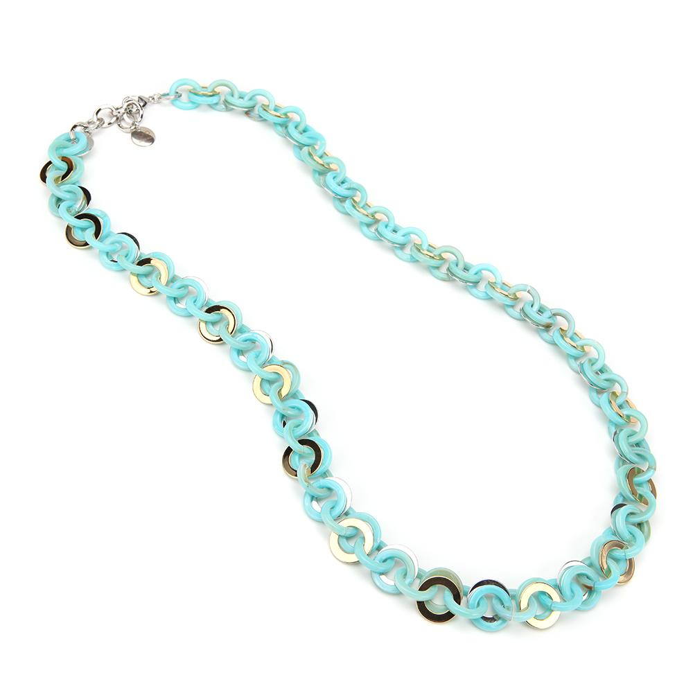 Sea Chain Resin Necklace Turquoise