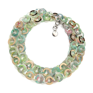 Sea Chain Resin Necklace Rainbow
