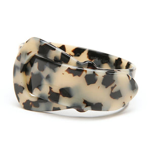 Buckle Resin Bracelet - 20mm Havana