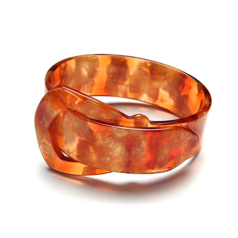 Buckle Resin Bracelet - 20mm Kumquat
