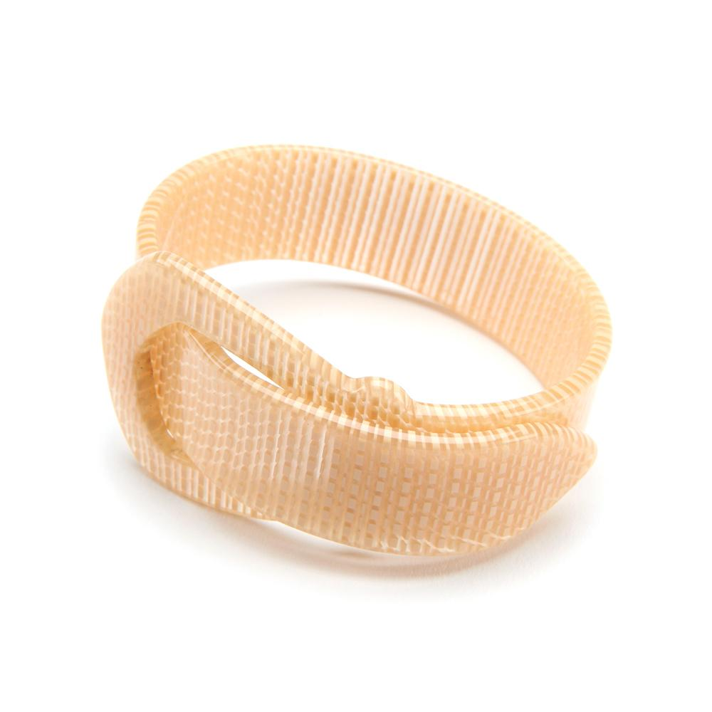 Buckle Resin Bracelet - 20mm Straw