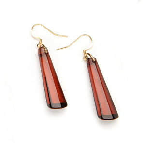 Crystal Drop Resin Earring - Small Amber