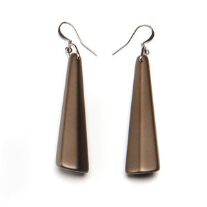 Barile Drop Resin Earring - Large Bronze