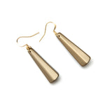 Barile Drop Resin Earring - Small Brass