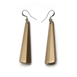 Barile Drop Resin Earring - Large Brass