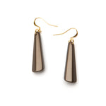 Barile Drop Resin Earring - Small Bronze