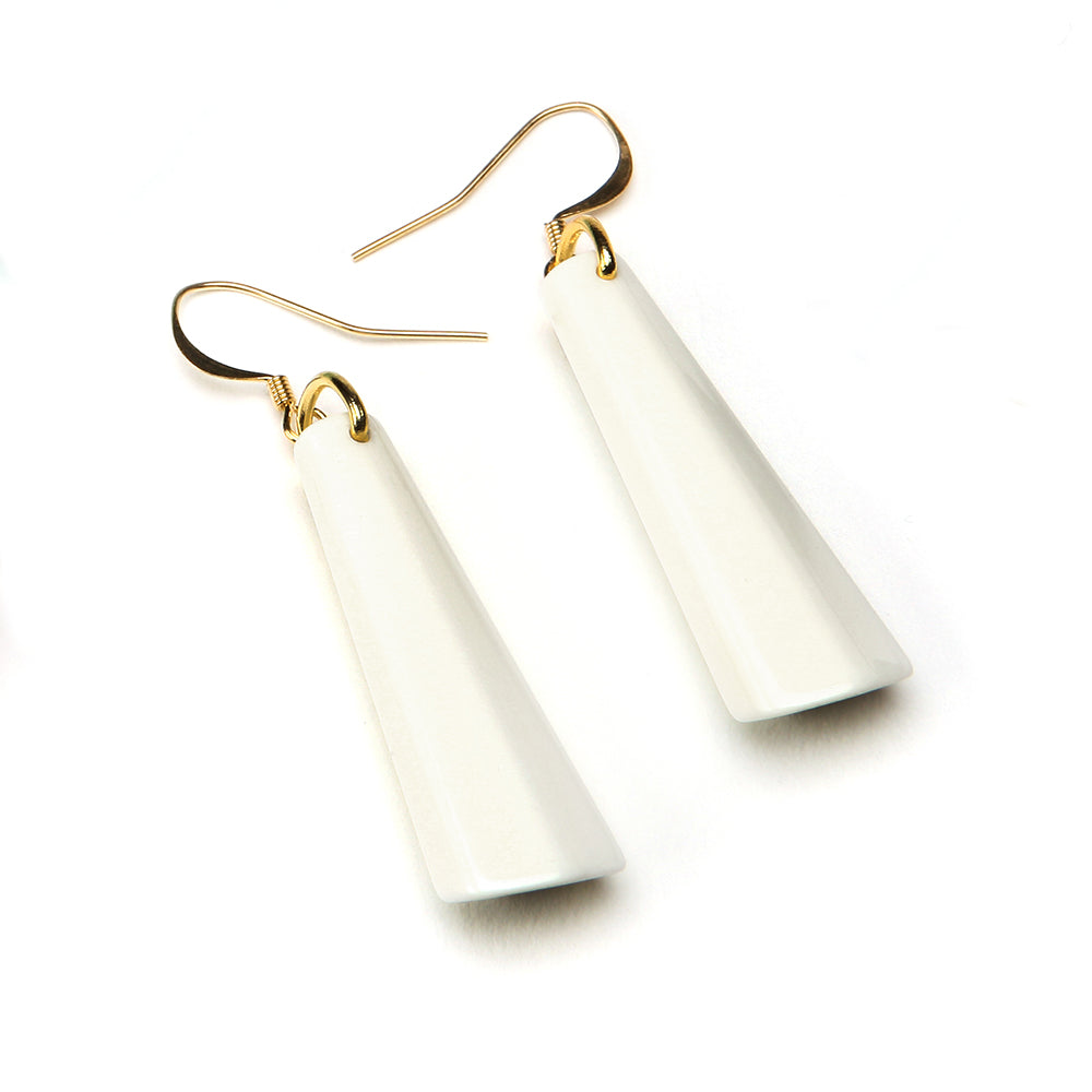 Spectrum Drop Resin Earring - Small Latte