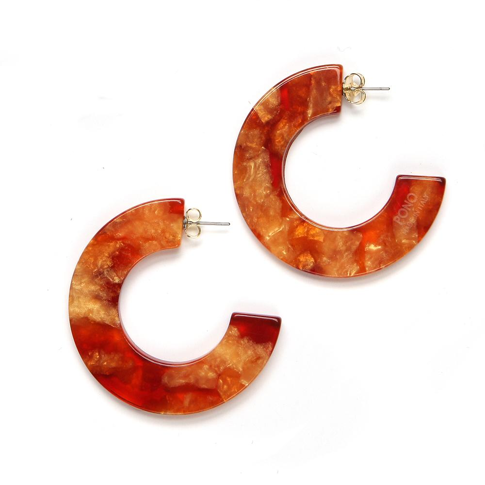 Gia Resin Earring Kumquat
