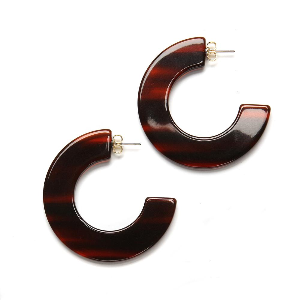 Gia Resin Earring Rootbeer