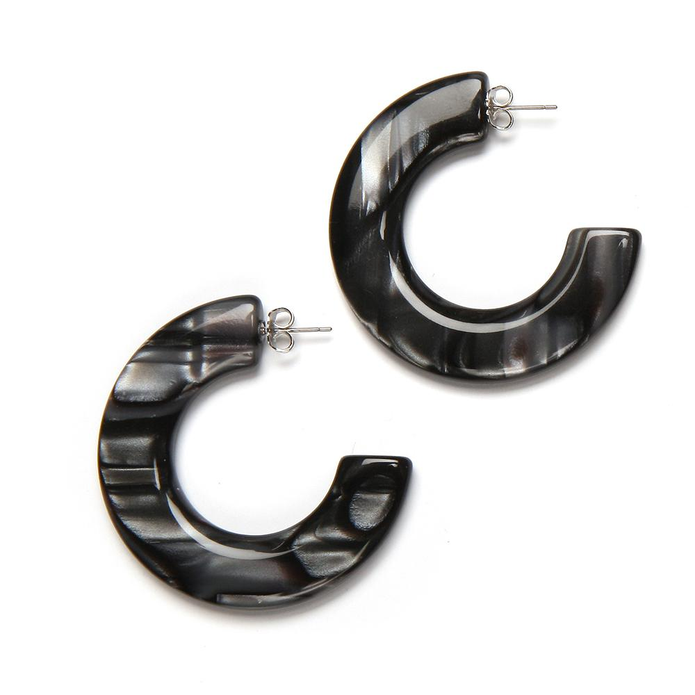 Gia Resin Earring Smoke