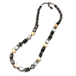 Gran Paradiso Resin Necklace Charcoal