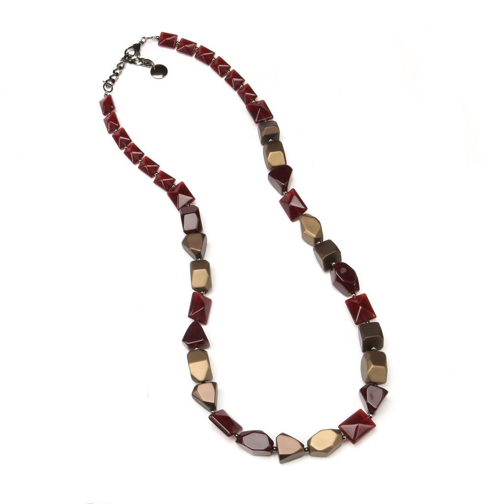 Gran Paradiso Resin Necklace Ruby