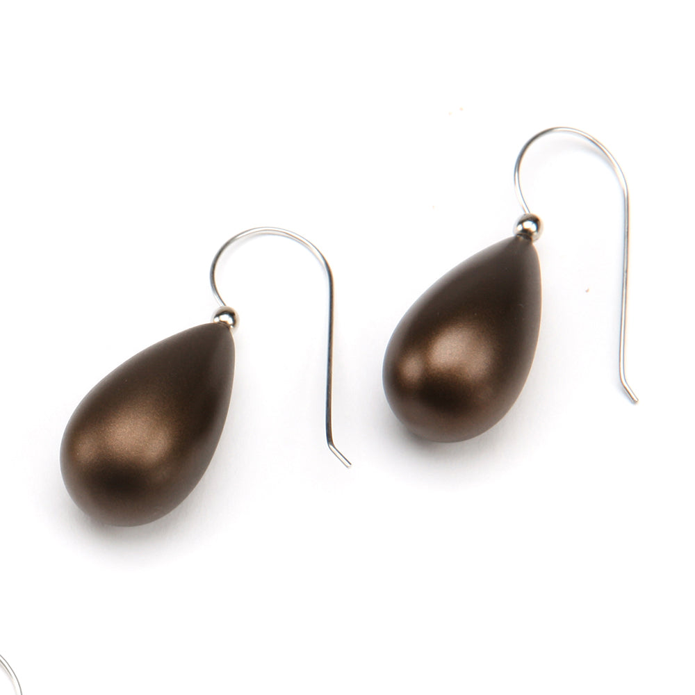 Alchemy Raindrop Resin Earring Bronze