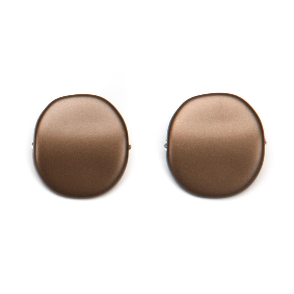 Alchemy Riverstone Resin Clip Earring Bronze