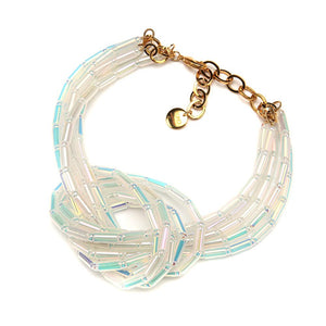 Reef Knot Resin Necklace ABWhite