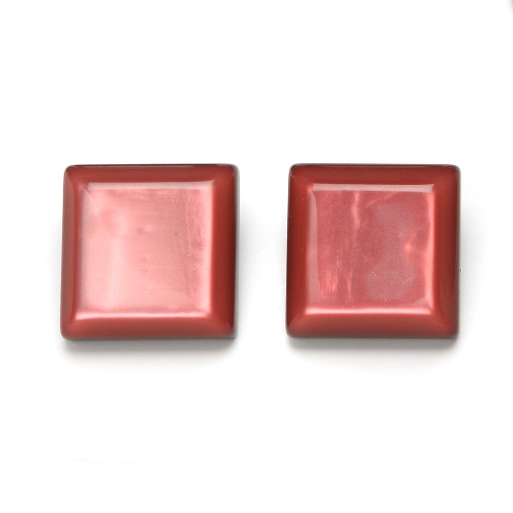 Paola Resin Clip Earring Salmon