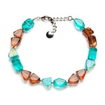 On the Rocks Resin Necklace Aquamarine