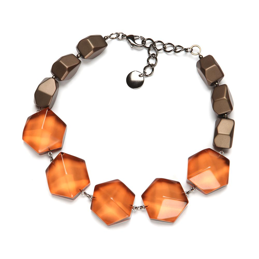 Elizabeth Resin Necklace Amber