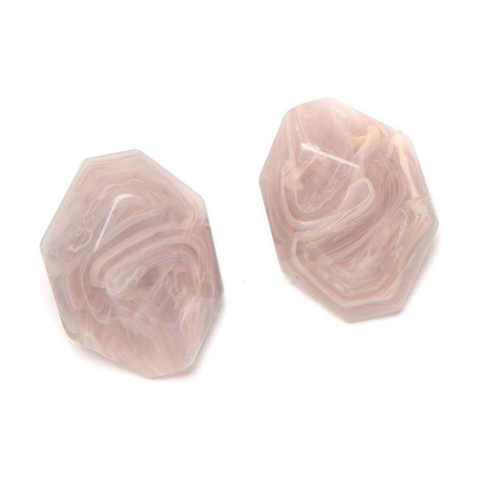 Mimi Resin Clip Earring Powder
