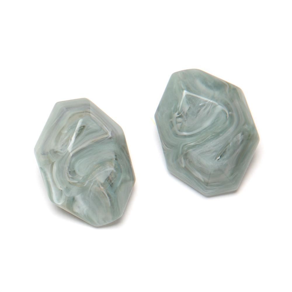 Mimi Resin Clip Earring Stream
