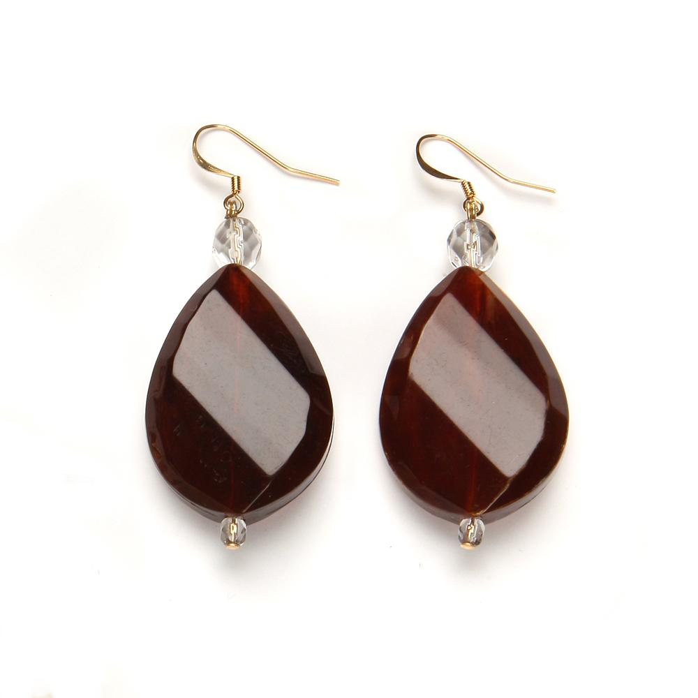 Nancy Resin Earring Rootbeer