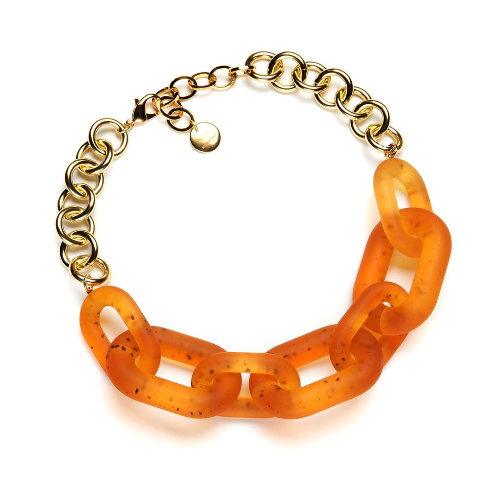 Margo Resin Necklace Matte Amber