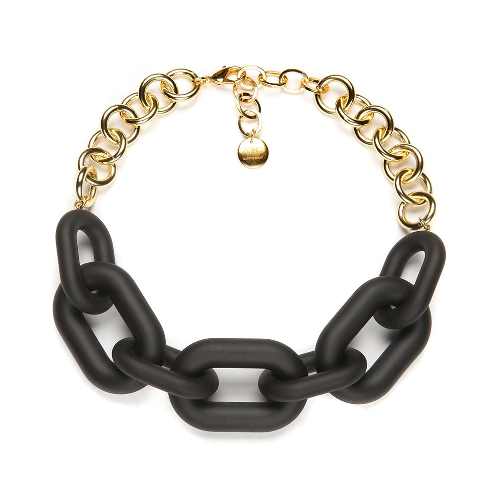 Margo Resin Necklace Matte Black