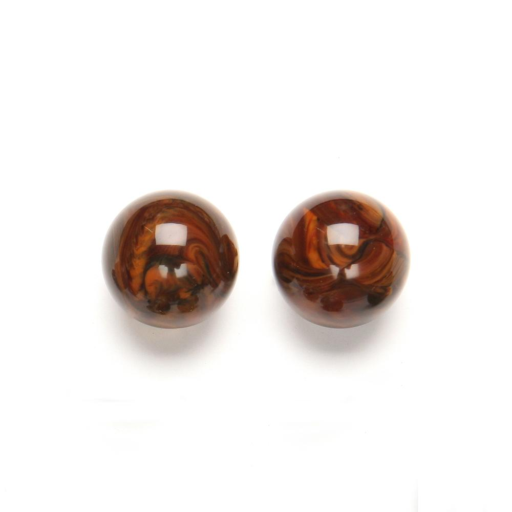 Paige Resin Clip Earring Walnut