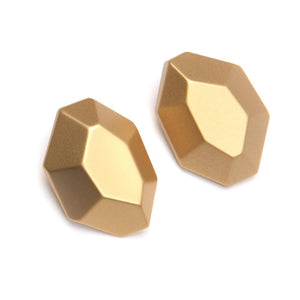 Mimi Barile Resin Earring Gold