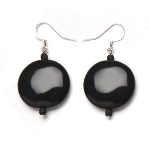 Brie Resin Earring Black