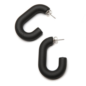 Mini Margo Resin Earring Matte Black