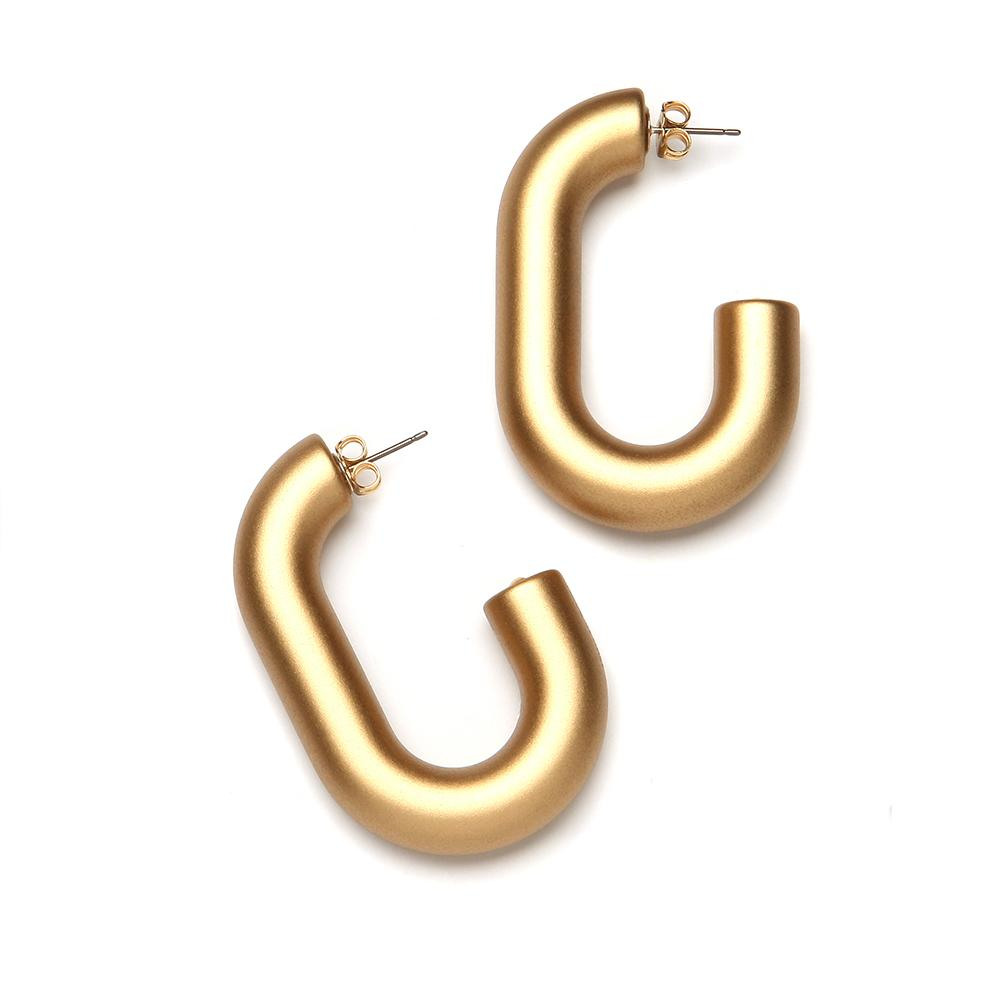 Margo Barile Resin Earring Gold