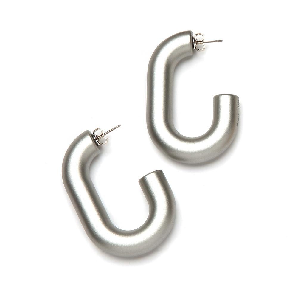 Margo Barile Resin Earring Silver