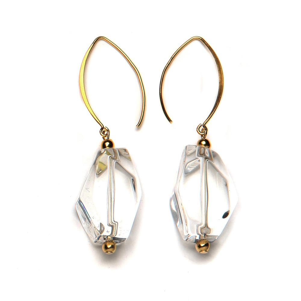 Yvette Resin Earring Crystal