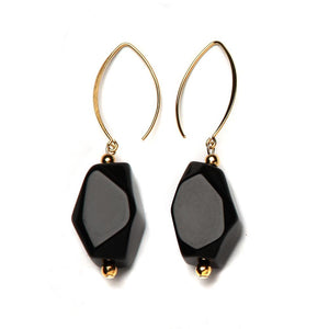 Yvette Resin Earring Jet