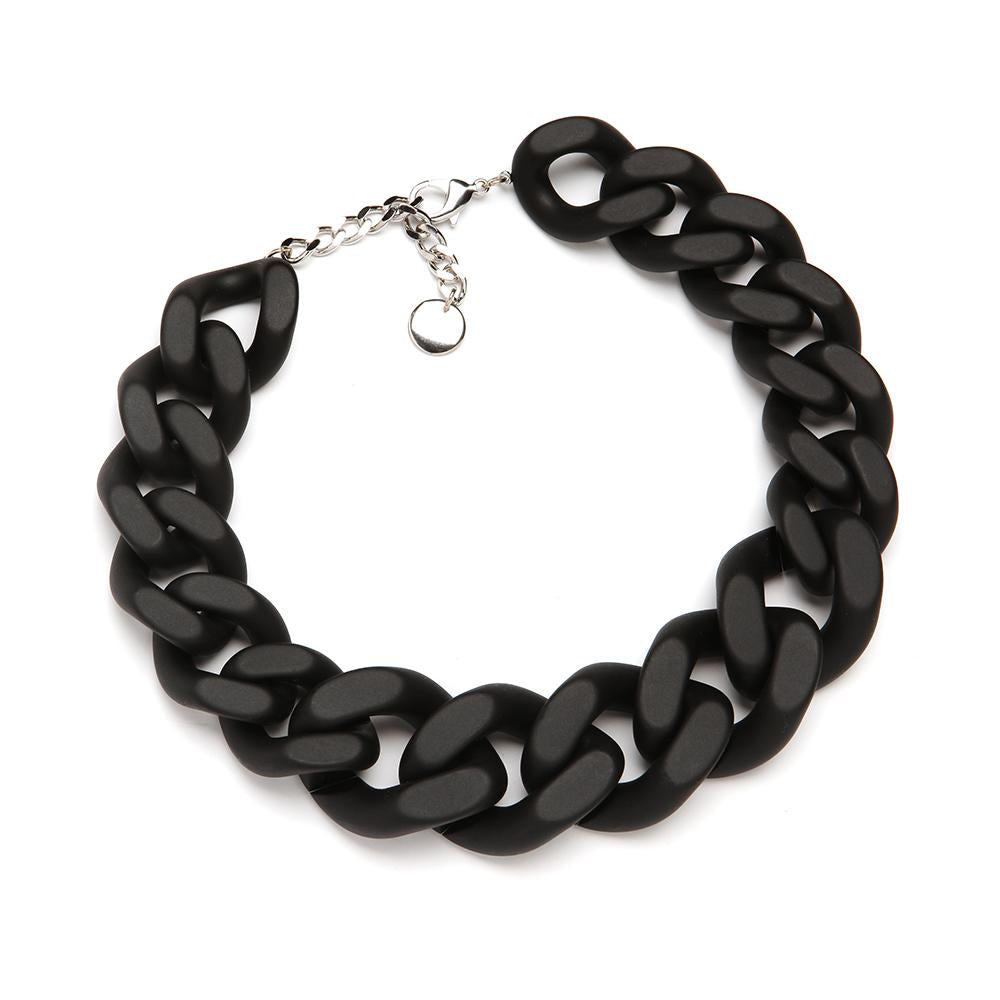 Paris Resin Necklace Matte Black