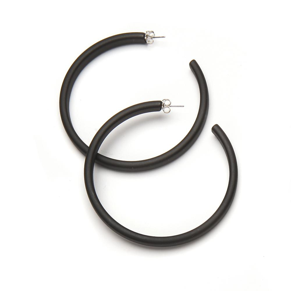 Twiggy Resin Earring Matte Black