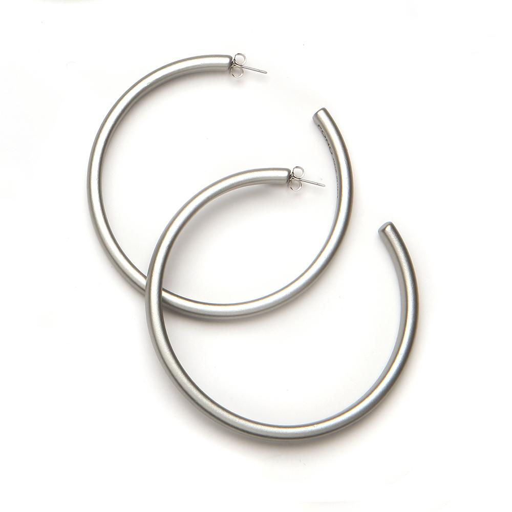 Twiggy Resin Earring Silver