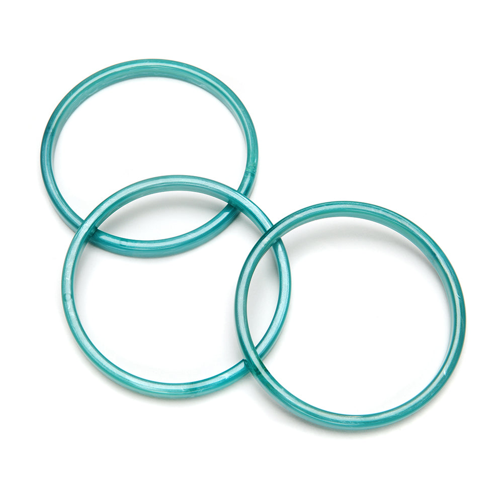 Twiggy Resin Bangle Set of 3 Lagoon